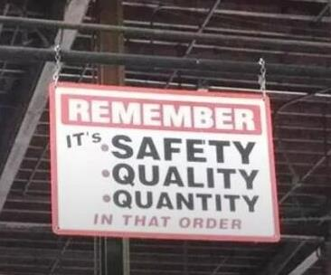 Safety, Quality, Quantity, in that order